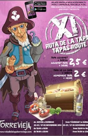 Cartel XI ruta de la tapa Torrevieja2014