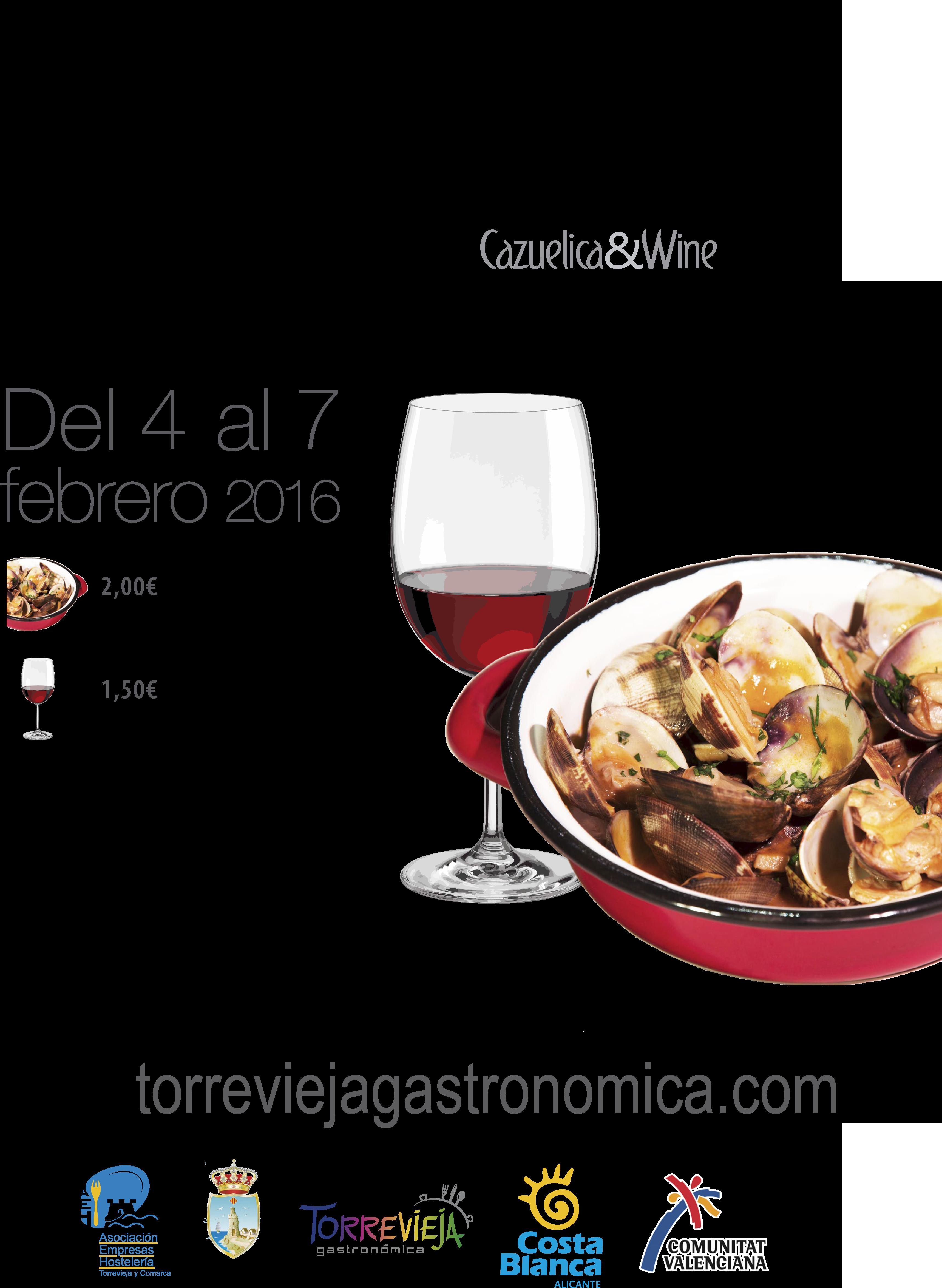 CARTEL CAZUELA Y VINO 2016