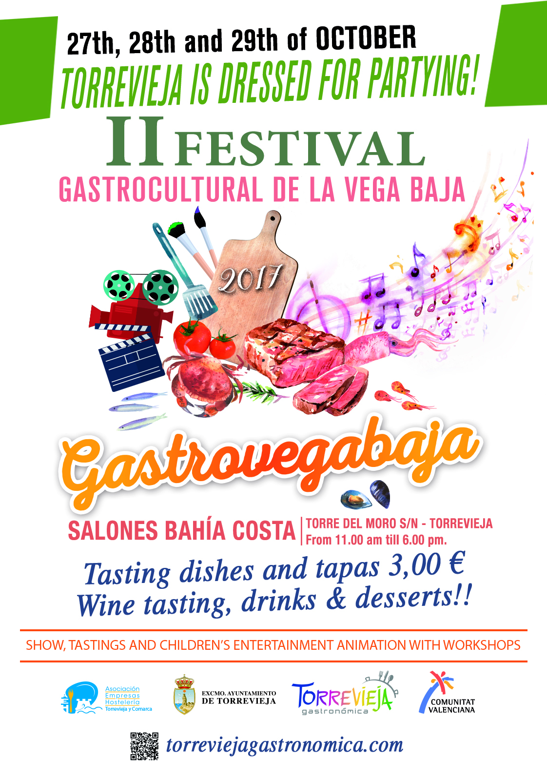 CARTEL II Festival Gastrocultural de la Vega Baja GASTROVEGABAJA 2017