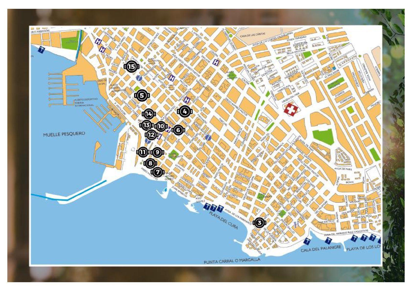 Mapa la cazuelica y el Vino Torrevieja 2019